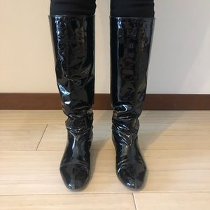 Katheryn Amberleigh patent leather boots